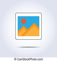 Old photo frame vector illustration