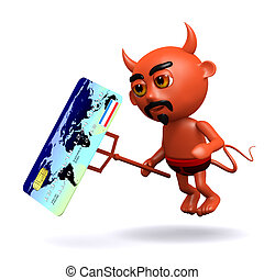 3d Devil with a credit card