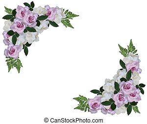 Wedding Invitation Roses and Gardenias