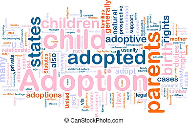 Adoption word cloud - Word cloud concept illustration of...