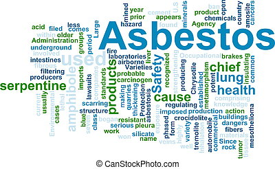 Asbestos word cloud - Word cloud concept illustration of...