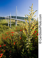 Millau Viaduct, Aveyron D�partement, France