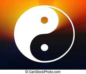 Yin Yang symbol - Yin yang symbol oriental representation of...