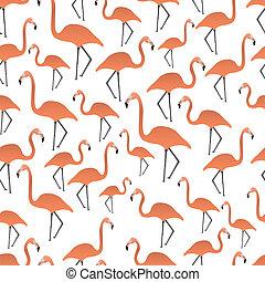 flamingos seamless pattern eps10