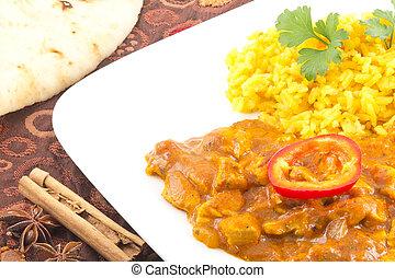 Tikka Masala - Spicy tikka masala curry chicken ready to be...