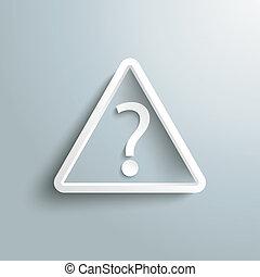 triángulo, pregunta, marca