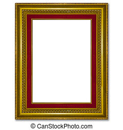 Old antique gold picture frame wall, wallpaper, decorative objec