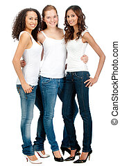 Diverse Teenagers - Three young and attractive teenagers...
