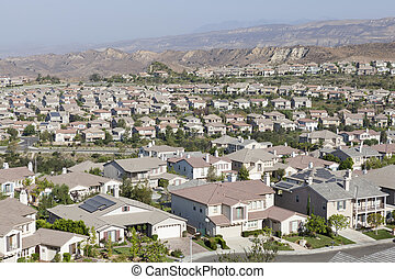 New Suburb Simi Valley California - New suburban community...