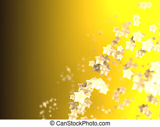 Shiny Stars Particles on smooth background - Shiny Stars...