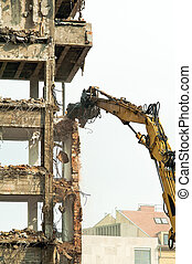 Demolition of an old houses