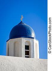 Chapel of Agios Ioannis Apokefalistheis - The blue domed...