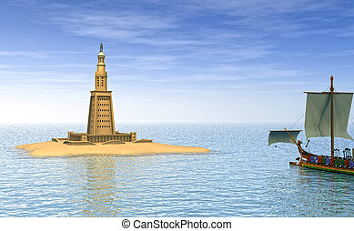 Lighthouse of Alexandria - computer graphics