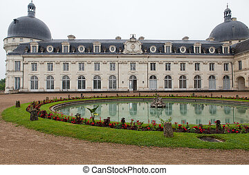 Valencay castle in the valley of Loire, France