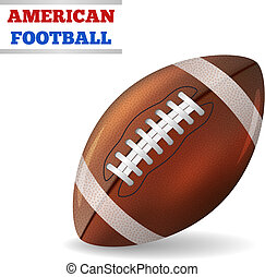 American Football Vector - American Football isolated on...