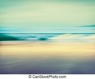 Retro Tube Wave - An abstract seascape made with a long...
