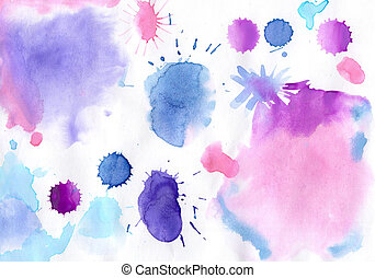 Handmade aguarelle  bright  background   for the manufacture of