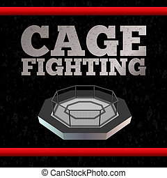 Cage Fighting. Poster. Vector - Cage Fighting. MMA Poster....