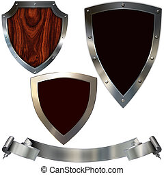 Decorative shields. - Decorative shields isolated on white...