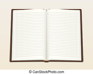 Empty notebook - Notebook, opened in the middle. Realistic...