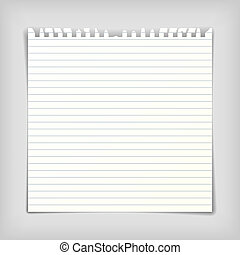 Note paper sheet with lines - Square note paper sheet with...
