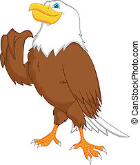 eagle cartoon thumbs up - illustration of eagle cartoon...