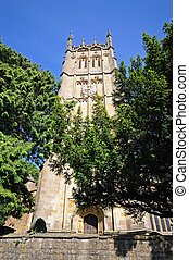Church tower, Chipping Campden - St James church tower,...
