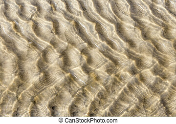 Sand see through water background