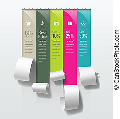 Colorful paper roll promotional