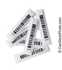 RFID-labels - Several RFID tags on white background