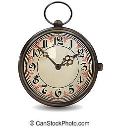 Rusty Pocket Watch - Antique pocket watch. Photorealistic...