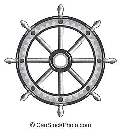 Old ship wheel icon