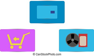 Vector color sale icons - Nice vector color icons set