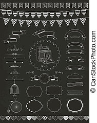 Vector Collection of Banners, Ribbons and Frames - Vector...