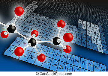 Periodic table - Molecule structure and periodic table of...