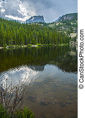 Bear Lake Colorado - Hallett Peak and Flattop Mountain- Bear...