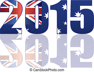 2015 Australia Flag in Numerals Illustration
