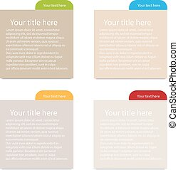 Illustration vector paper tags