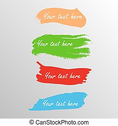 Vector color bash tags - Four color brash icon vector...