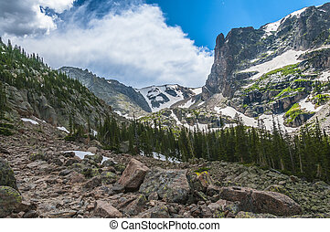 Colorado Rockies Hiking Trail - Trail from Lake Helene to...