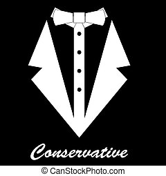 Conservative vector background - Black and white background...
