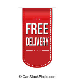 Free delivery banner design over a white background, vector...