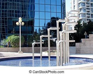 Ramat Gan fountain 2012 - Modern fountain in Ramat Gan part...