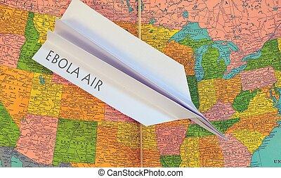 Ebola, vírus, em, Estados