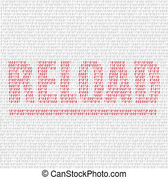 reload code background - The programming code on the light...