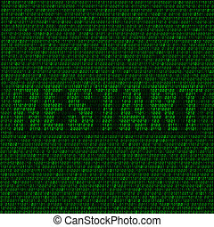restart code background - The programming code on the dark...