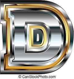 Fancy font Letter D
