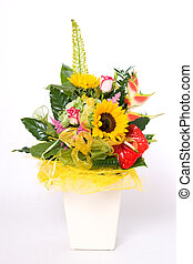 Flowerpot of flowers - Flowerpot full of variety colorful...
