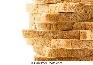 Whole wheat bread texture background
