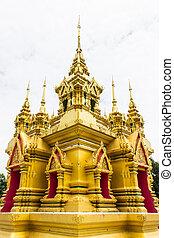 Pagoda in Wat Kamat in Chomthong , Chiangmai Thailand